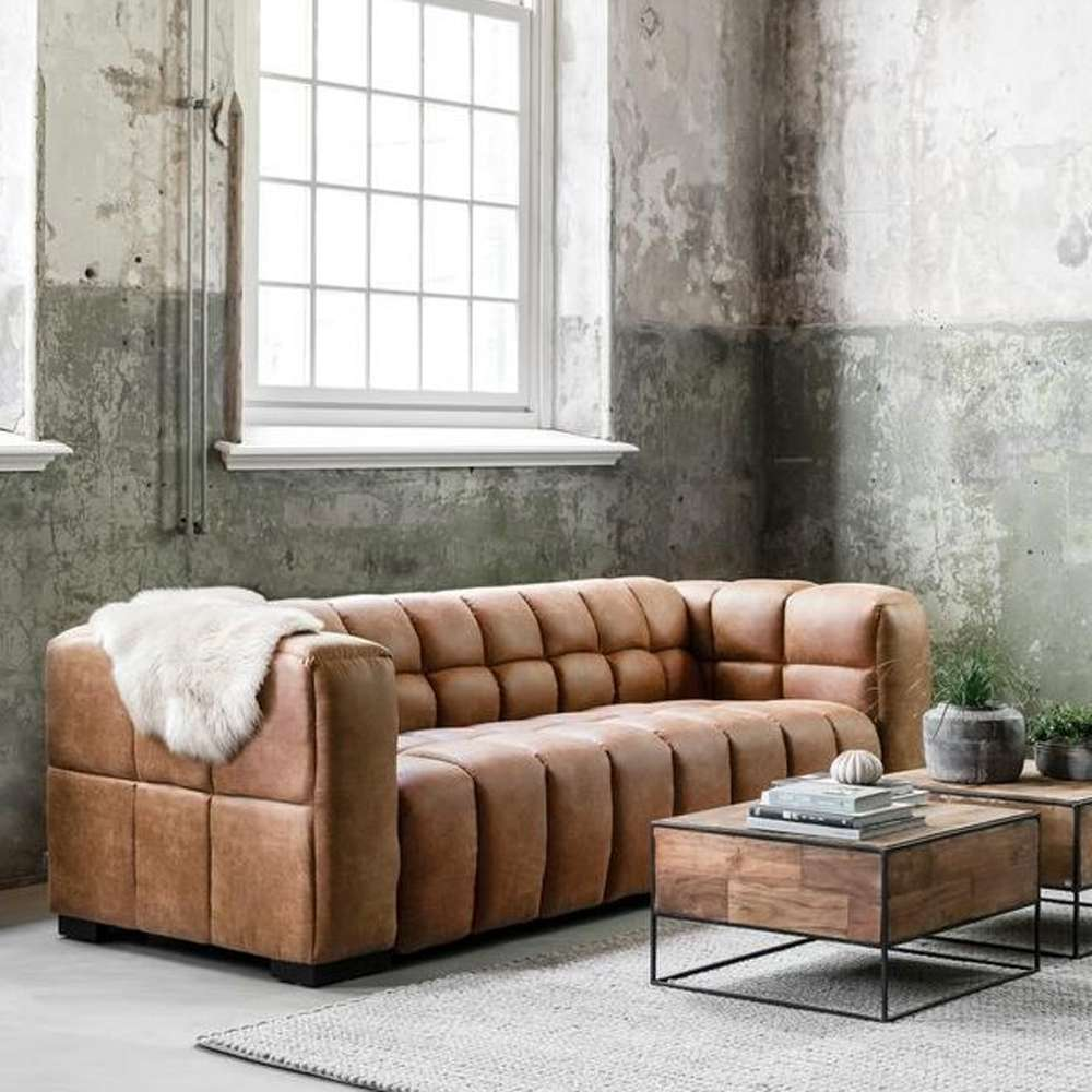 3 Sitzer Sofa Waves Leder Cognac Lounge Couch Garnitur New Maison Esto Ihr Grosser Mobel Online Shop 3 Sitzer Sofa Sofa Couch