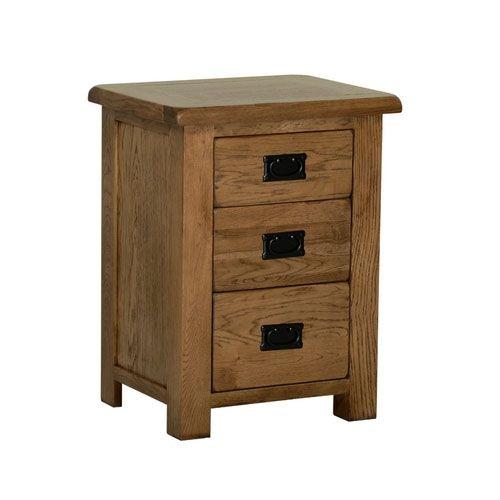80e704458b2d Devonshire Rustic Oak 3 Drawer High Bedside | Furniture Plus Online ...