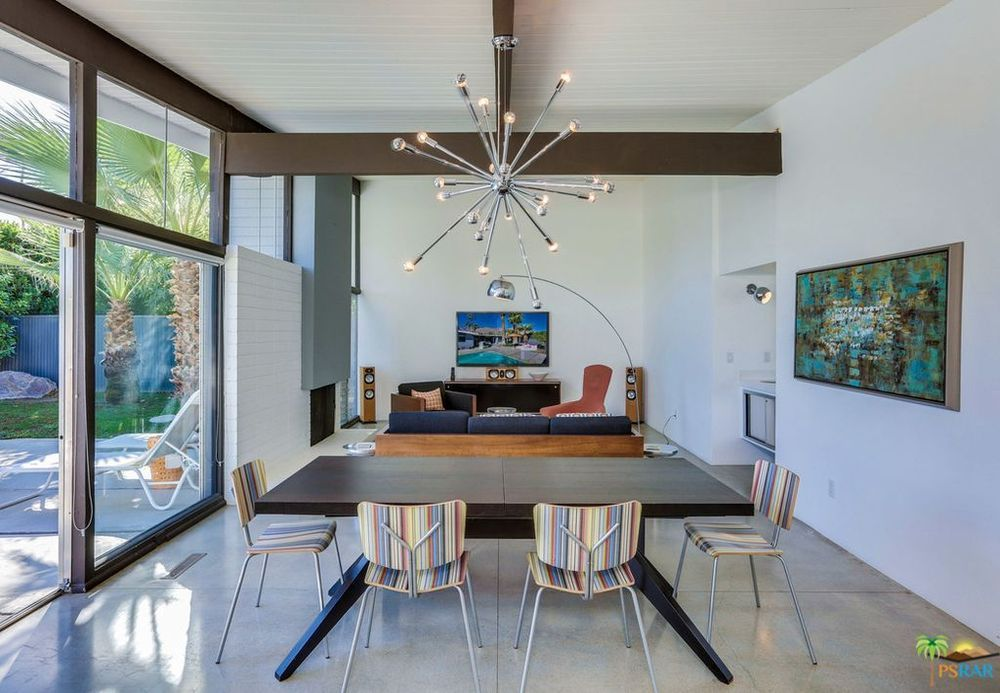 1950s Palm Springs Home With Butterfly Roof Flutters Onto Market For 795K