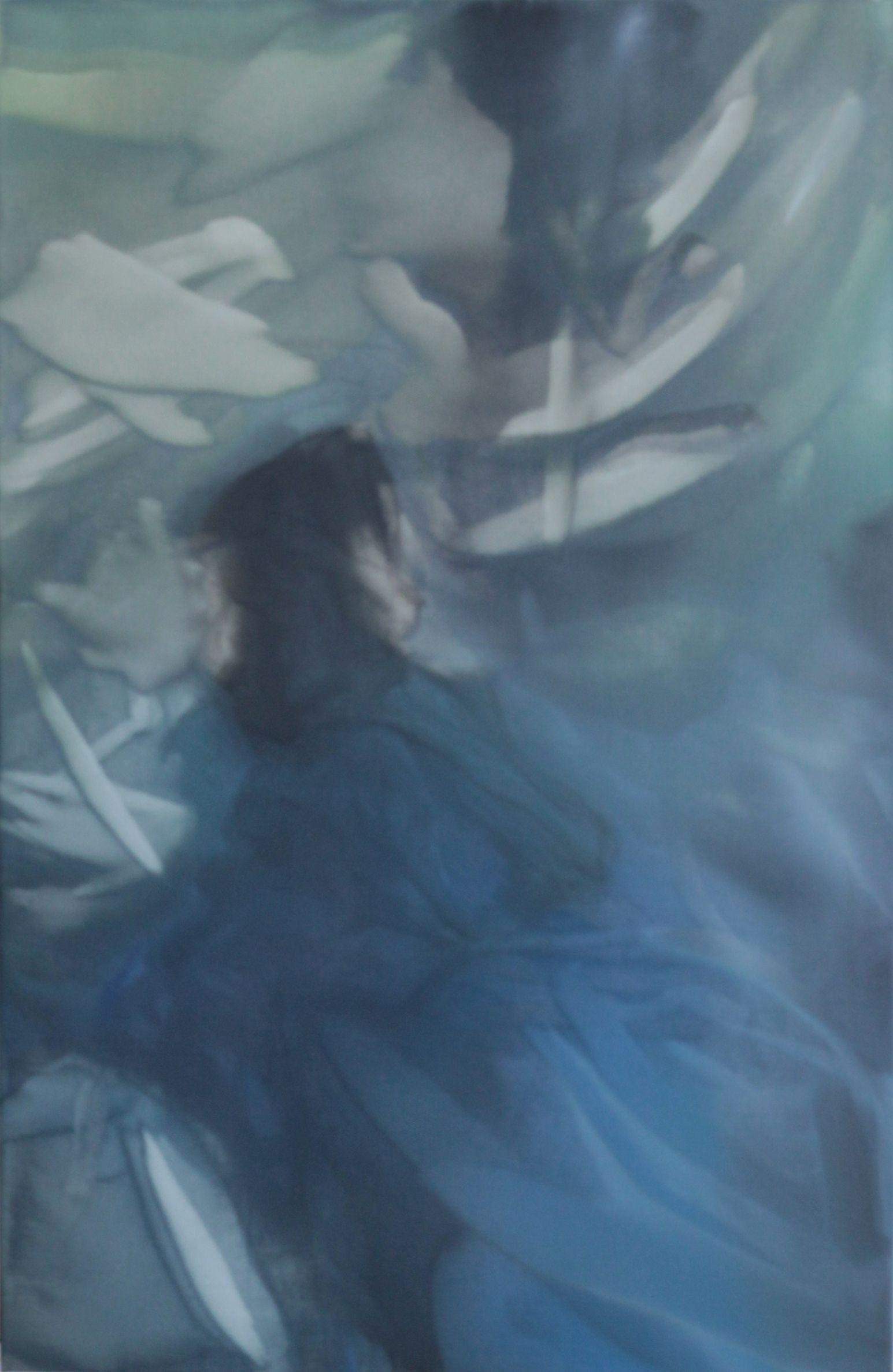 Marvin Aillaud - Silhouettes fragmentées #3 - 2014 - Huile sur toile - 90 x 62 cm #lamicrogalerie #marvinaillaud #peinture #artcontemporain