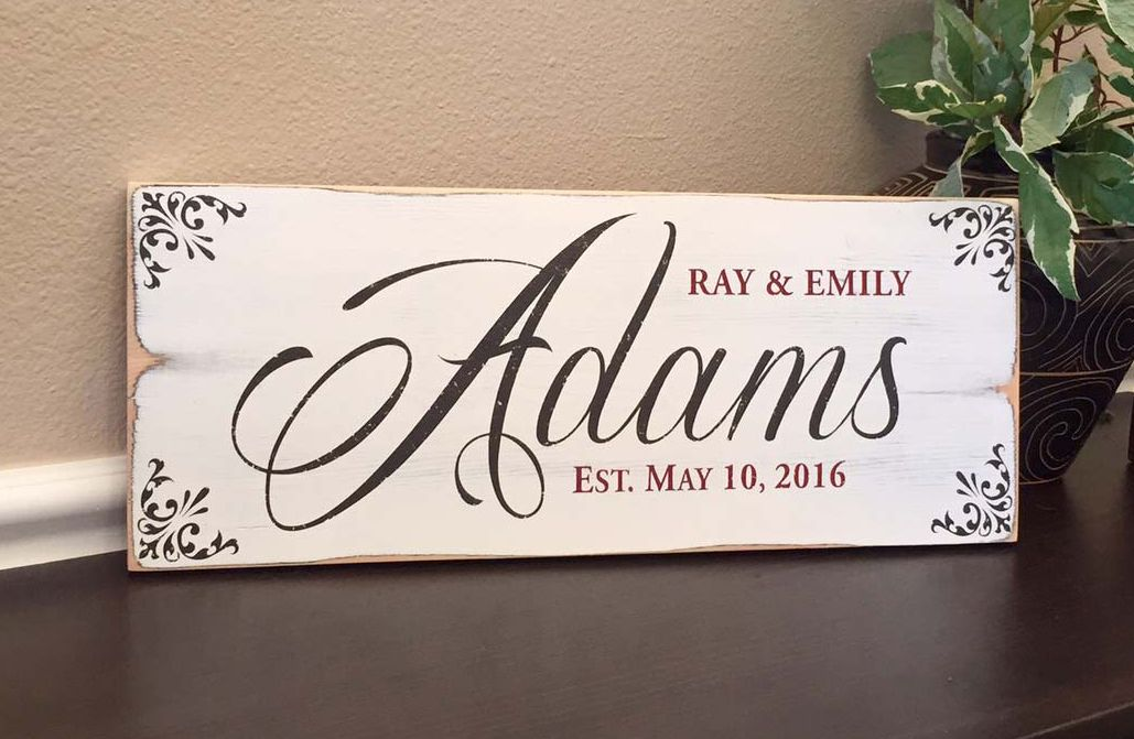 Beautiful Rustic Finish On This Established Sign Farmhouse Family Room Decor Perfe Established Signs Diy Family Established Sign Diy Established Wedding Sign