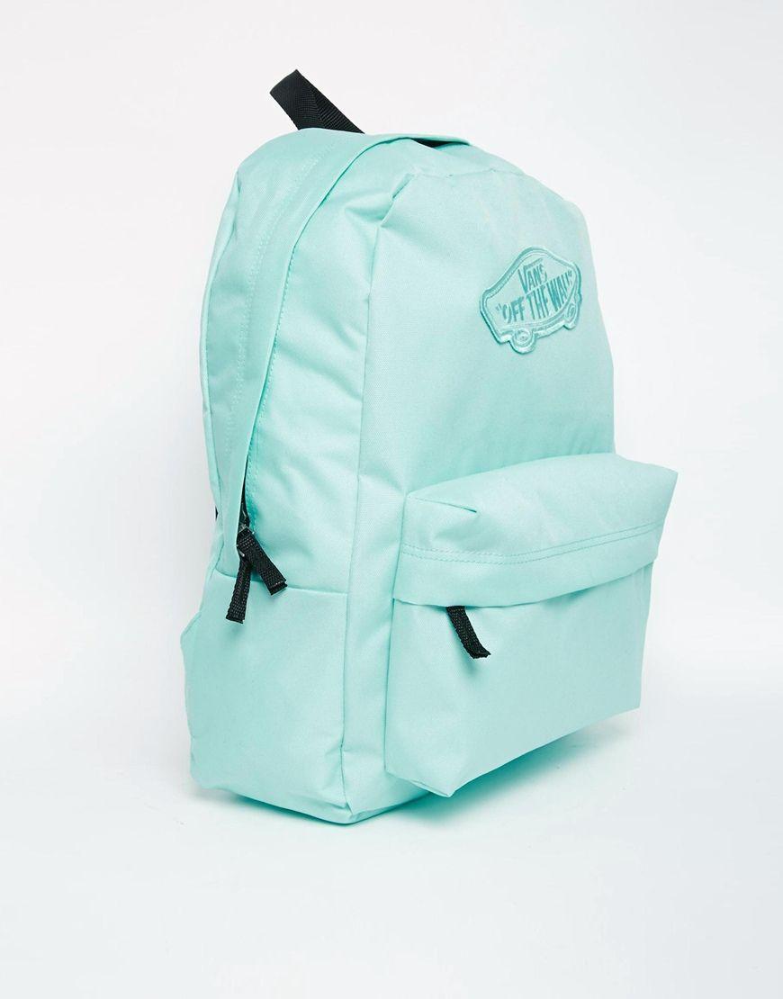 mint green vans backpack