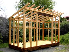 Best Framing A Shed Roof Part 2 Garden Tool Shed Building 400 x 300