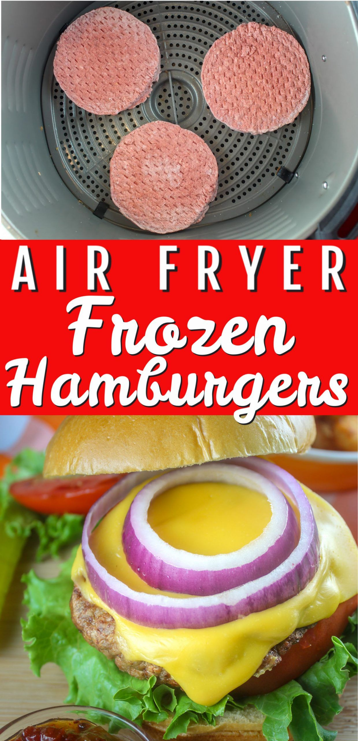 Dinner just got easier making frozen hamburgers in your