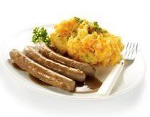 worstje met wortelpuree en vleesjus! zeer vlaams!!!   www.knorr.be