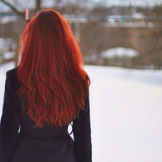 Maybe My Hair One Day Redhead In Winter Red Hair Don T Care Red Hair Tumblr Long Hair Styles