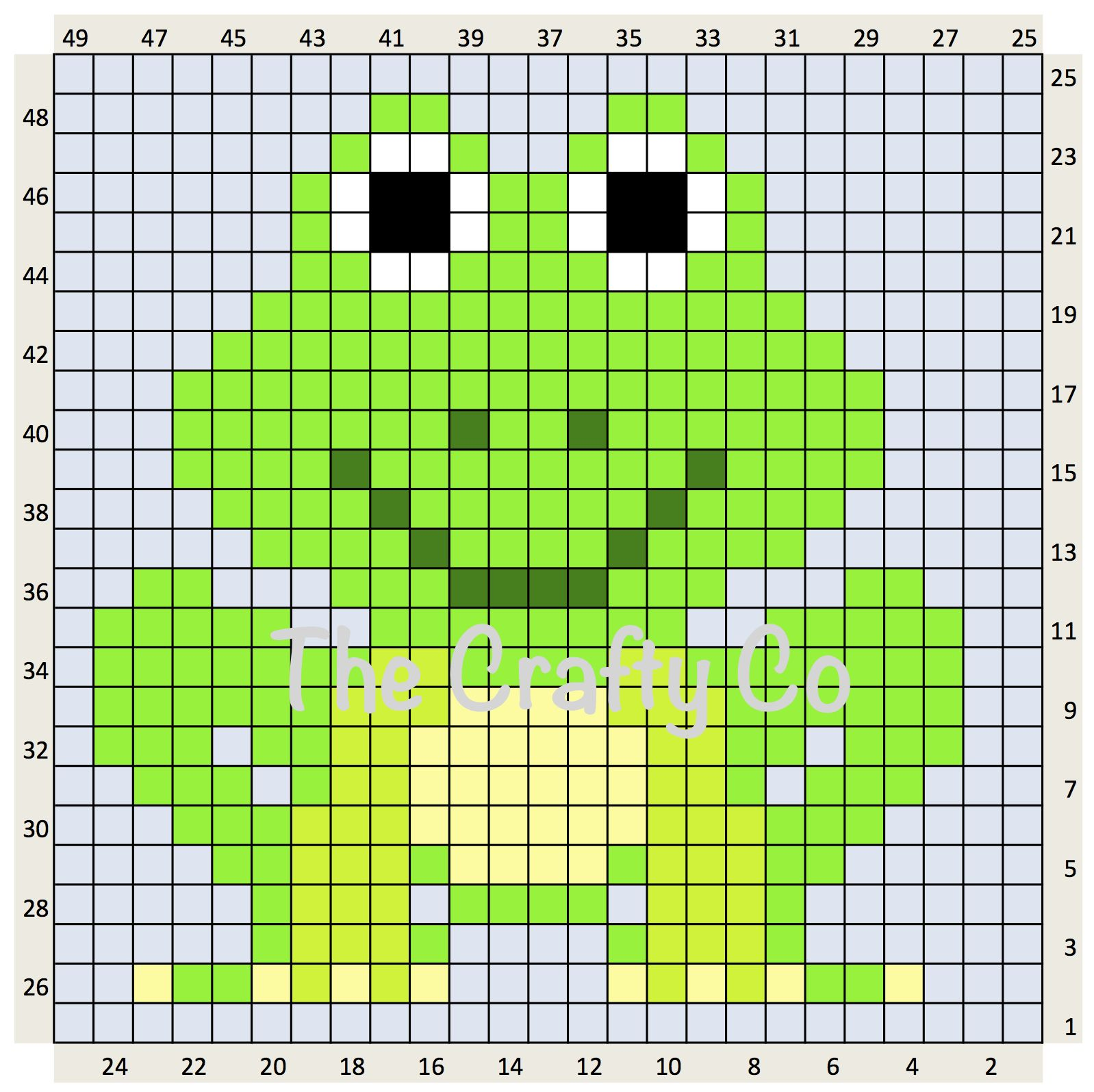 Frog C2c Crochet Chart Free Download Crochet Chart