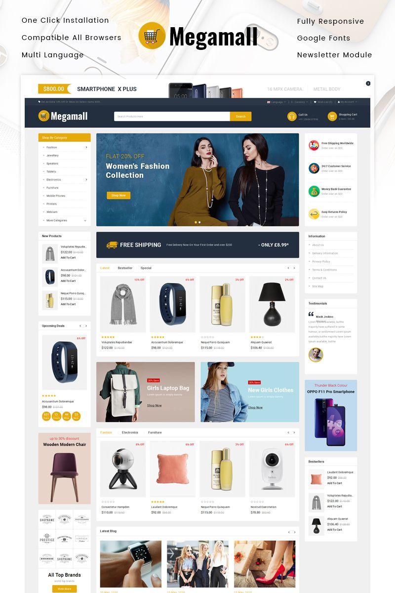 Megamall Multipurpose Store OpenCart Template 86227