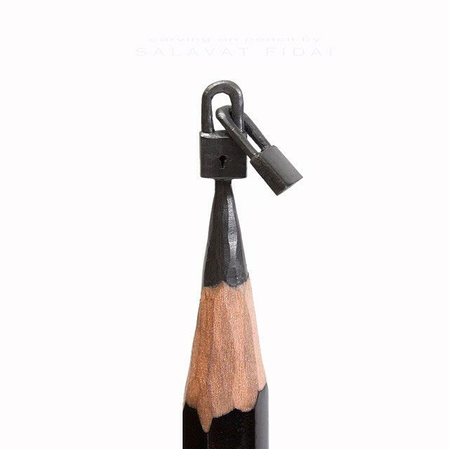 SalavatFidai Carves Miniature Artworks Onto The Tips Of Lead - Artist carves miniature pop culture sculptures into pencils