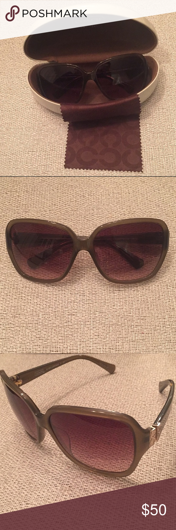0590fca4231e8 ... coupon code for coach olive green sunglasses gently used authentic  olive green coach sunglasses. they