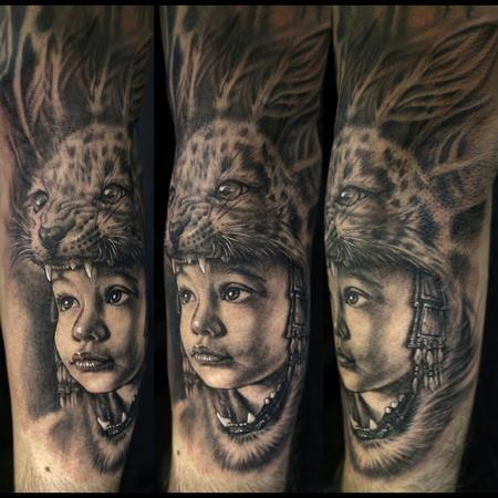 3d95ee4f3 Stefano Alcantara: Son as an Aztec Warrior. Stefano Alcantara: Son as an Aztec  Warrior Jaguar Tattoo ...