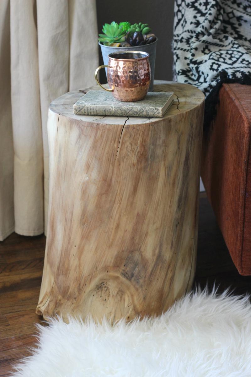 Ceppo Di Legno Tavolino diy tree stump end table-west elm hack | idee di arredo