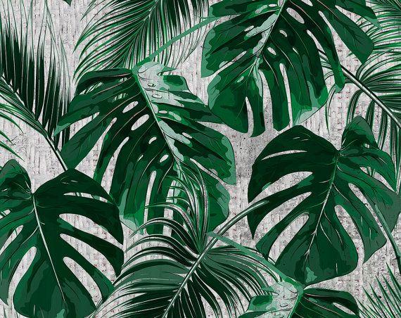 sticker mural tropical palm papier peint par. Black Bedroom Furniture Sets. Home Design Ideas