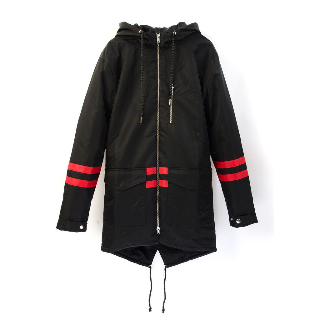 BBC Bee Fishtail Parka Black. Available at Concrete Store ...