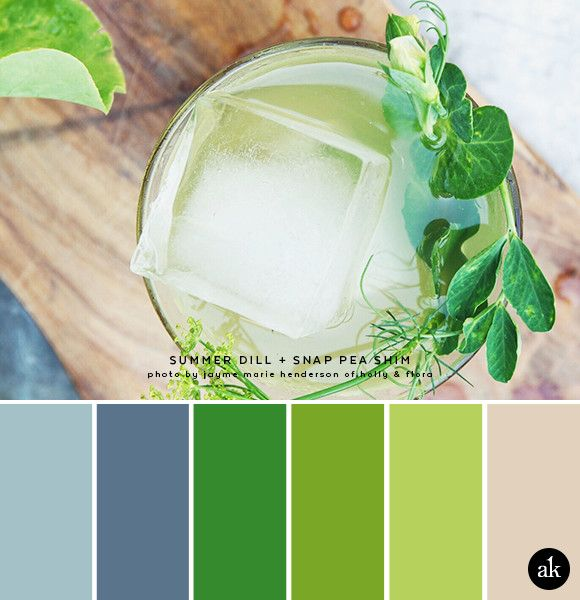 A Dill And Snap Pea Inspired Color Palette Blue Green Photo Tail Recipe By Jayme Henderson Of Holly Flora