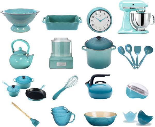 Lovely Brighten Your Kitchen With Retro Aqua Kitchen Tools And Appliances.