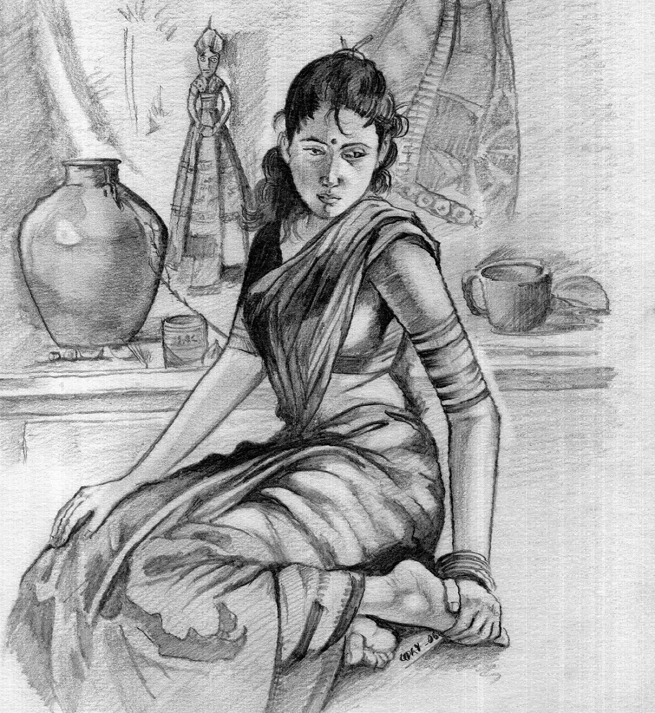 Indian Art Indian Art Indian Paintings Beautiful Sketches