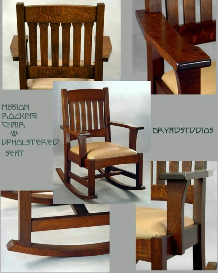 Dryad Studios - Arts u0026 Crafts - Craftsman - Mission - Oak - Rocking Chair w & Dryad Studios - Arts u0026 Crafts - Craftsman - Mission - Oak - Rocking ...