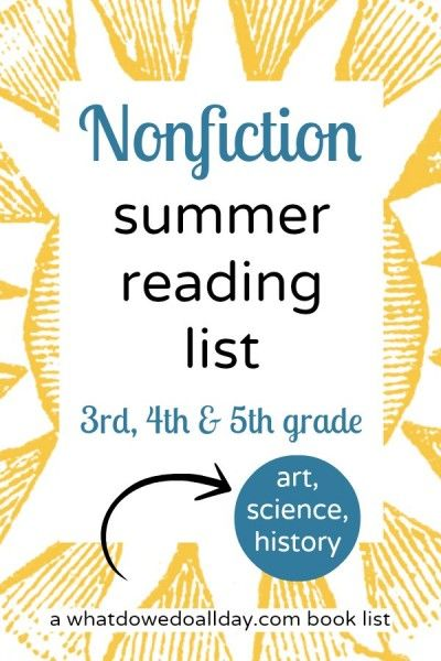 Nonfiction summer reading list summer reading lists nonfiction nonfiction books for summer reading lists good for 3rd 4th and 5th graders sciox Choice Image