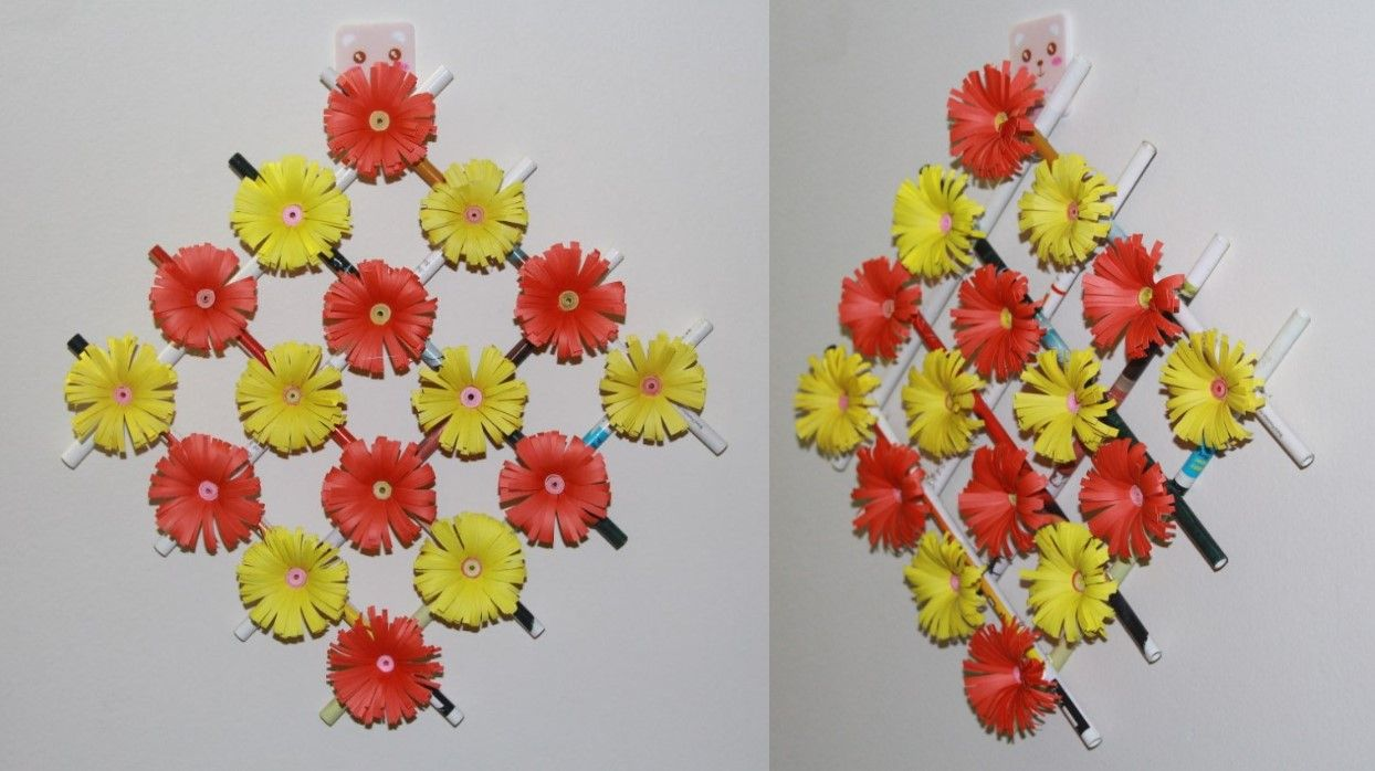 Zero Budget Flower Wall Decor Ideas How To Make Flower Paper