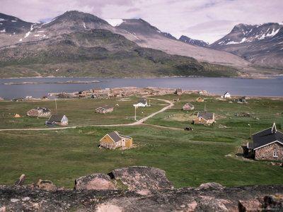 Igaliko (Gardar), Viking Site, Greenland, Polar Regions Fotografisk trykk
