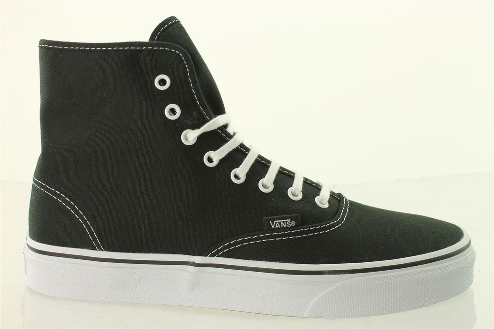 14ac6cbe40 Vans Authentic Hi Black Canvas Boots VRQF6BT Unisex NEW UK  VANS  Boots