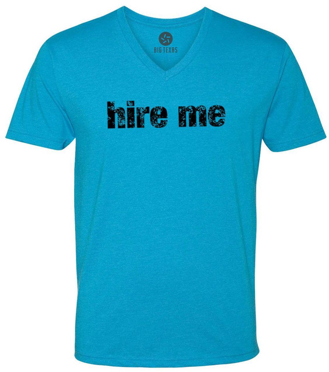 Hire Me (Black) Short-Sleeve V-Neck T-Shirt