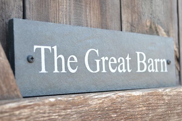 The Great Barn Slate House Sign