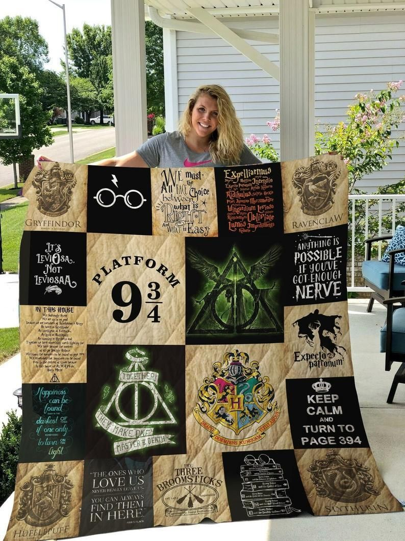 Harry Potter Always Keep Calm And Turn To Page 394 Quilt Blanket 5 sizes