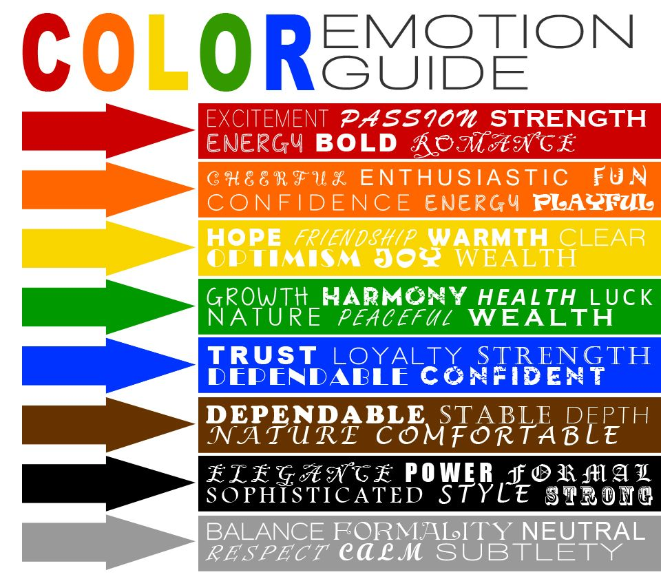 Colour Emotion Guide Va Colour Pinterest Psychology