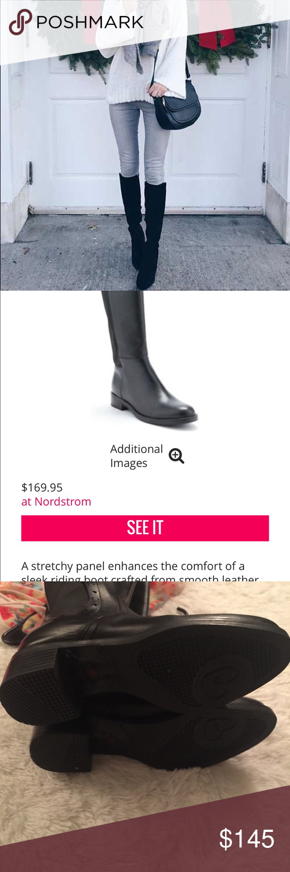 badb89e7bb4 Blondo Ellie Aqua Protect Leather Riding Boots! 1st pic shows outfit and style  idea!