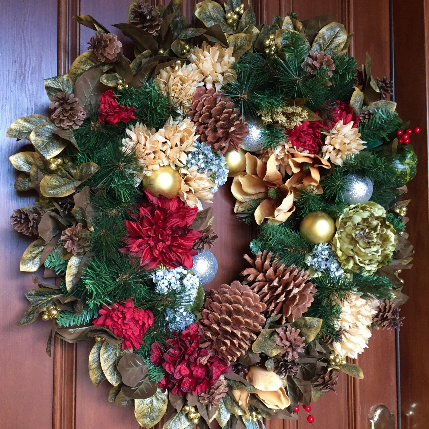 rose wreath doors classic vintage floom christmas wreaths door