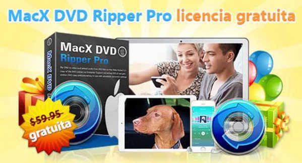 [Gratis] Descarga MacX DVD Ripper Pro para pasar de DVD a iPad, iPhone y Android desde Mac o Windows