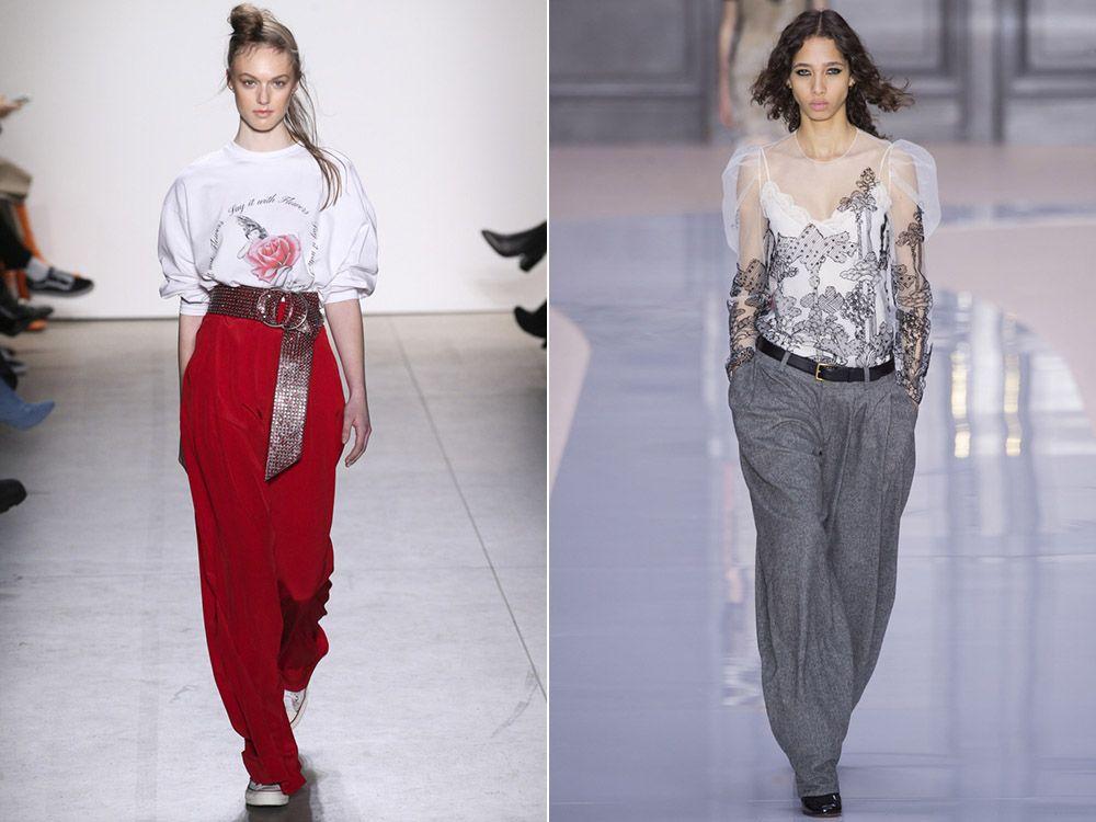 7e74ddd29b65 Широкие брюки осень-зима 2017-2018   Total look for woman ...