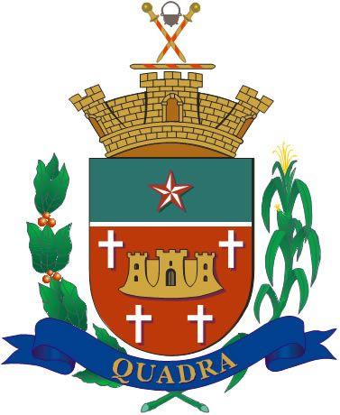 1a74ecdd6fa30 DESCRIÇÃO DO BRASÃO DO MUNICÍPIO DE QUADRA - SÃO PAULO - BRASIL I – Um  escudo
