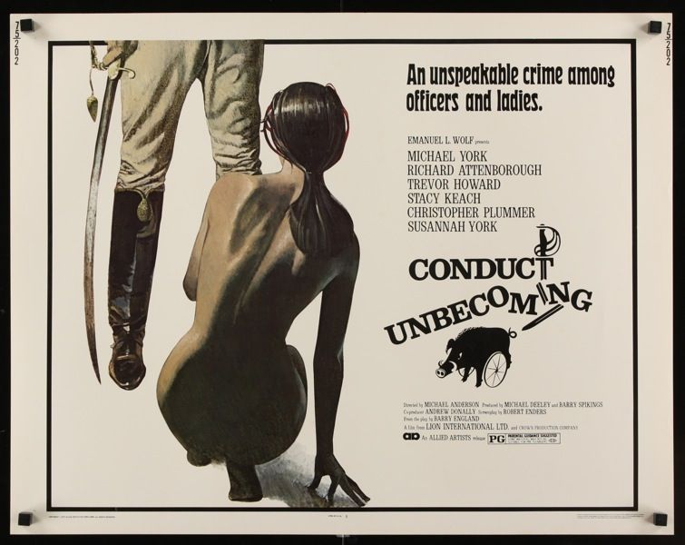 Conduct Unbecoming half sheet poster. 1975 UK movie with Susannah ...