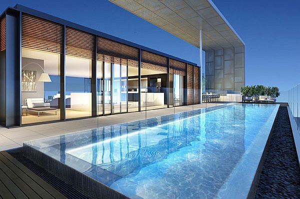 Stunning Australian Inner City Penthouses Rooftop Terrace Design Pent House Swimming Pool Designs