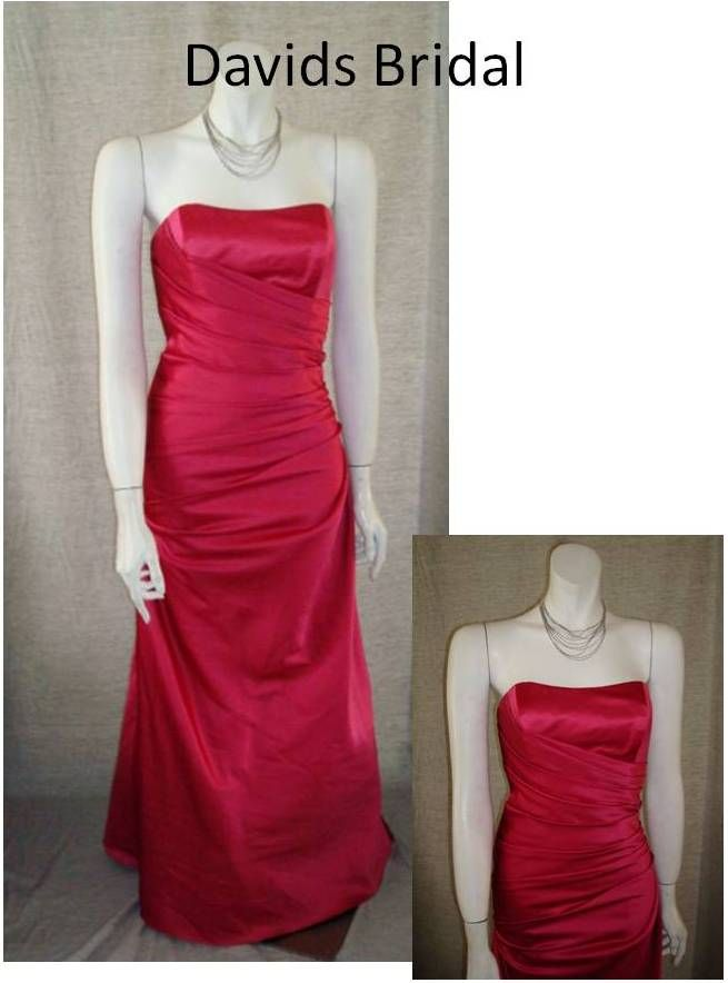 Lovely red gown from David's Bridal