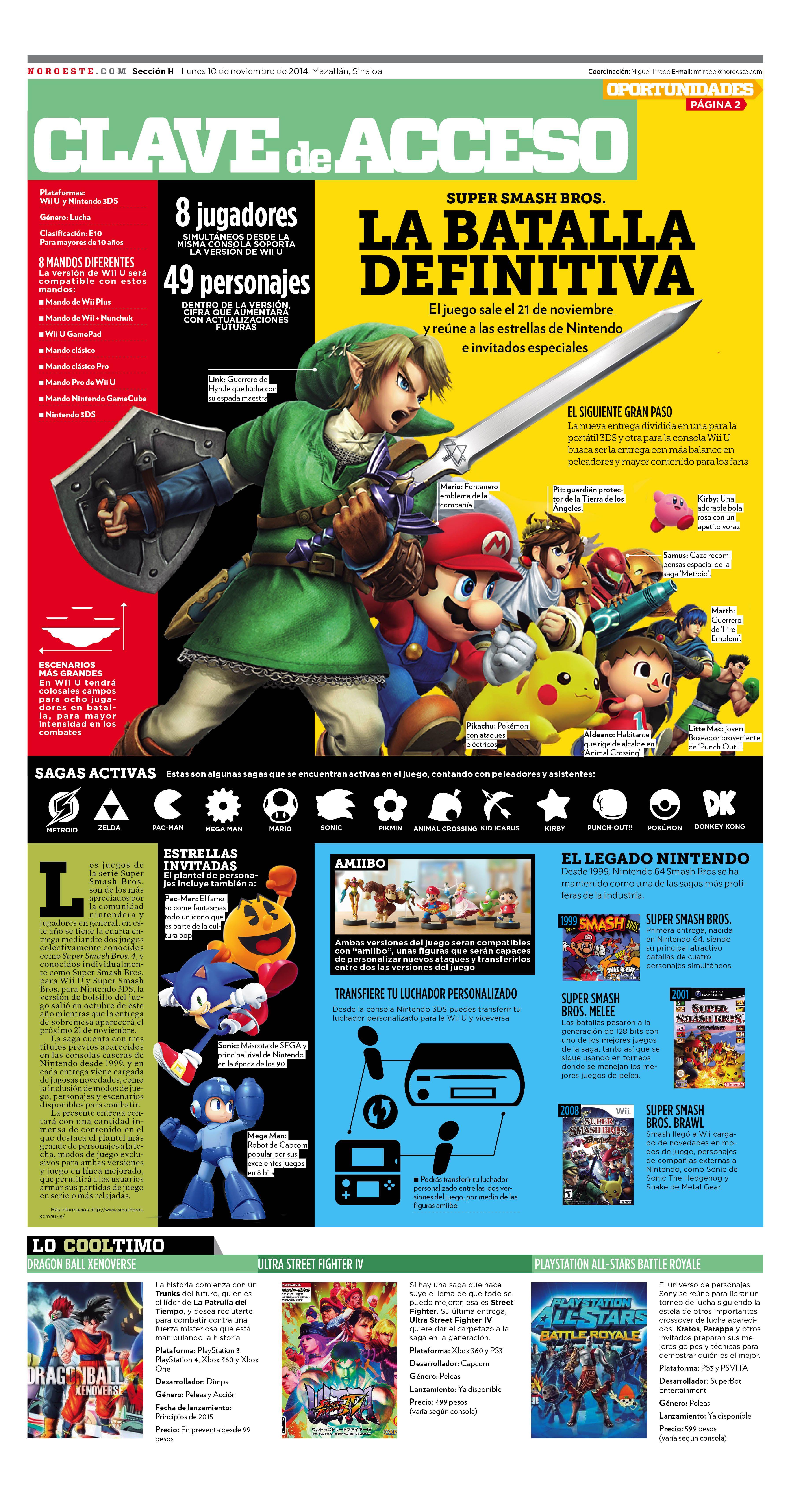 Super Smash Bros Para Wii U Y 3ds Smashbros Nintendo Editorial Infographic Infografia Zelda Sonic Mario Comic Book Cover Book Cover Comic Books