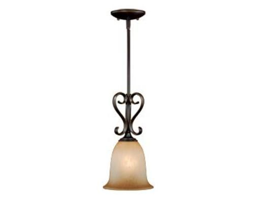 Mavis 1 light 7 oil brushed bronze with gold accent pendant at menards