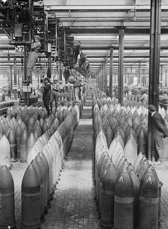 Female crane operators national shell filling factory