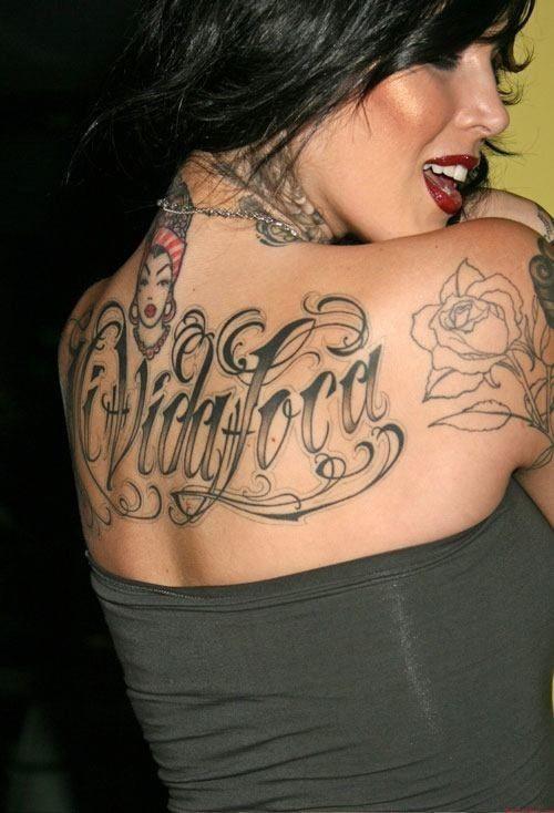 Amazing Back Tattoo By Kat Von D Tattoo Ideas Top Picks Kat Von D Tattoos Makeup Artist Tattoo Celebrity Tattoos