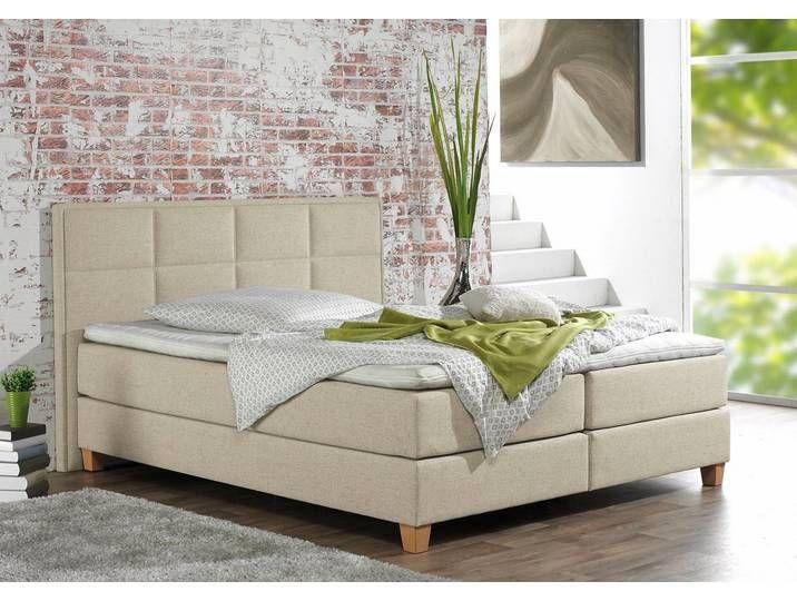 Photo of Home affaire Boxspringbetten »Casey«, 160×200 cm, Landhaus-Stil, beige