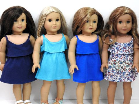 American Girl Doll Yachting Dress #dollscouture