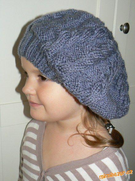 Zimní pletený baret  8555bb68bf