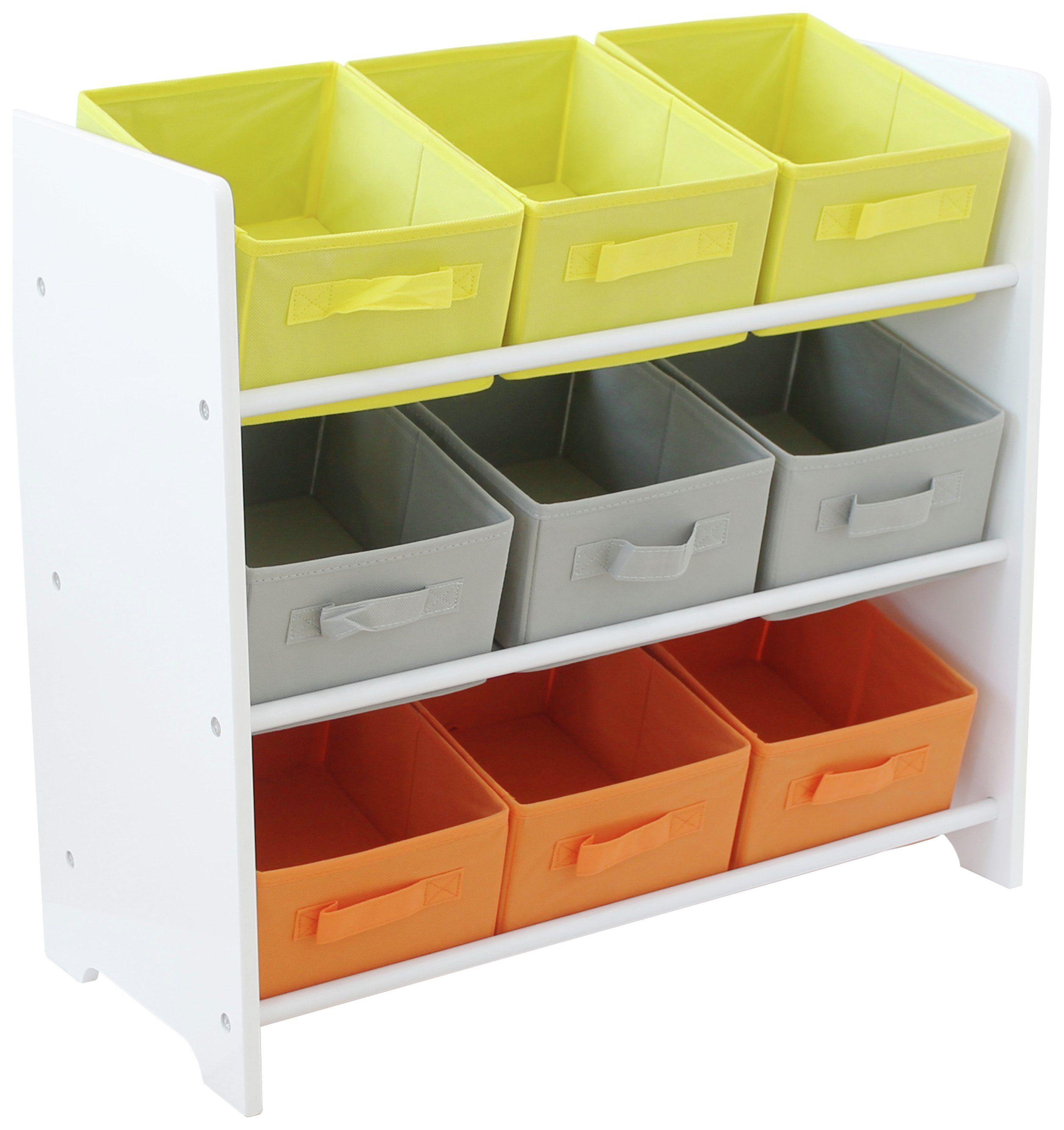 Argos Home 3 Tier White Kids Basket Storage Unit In 2020 Storage Storage Baskets Hanging Storage