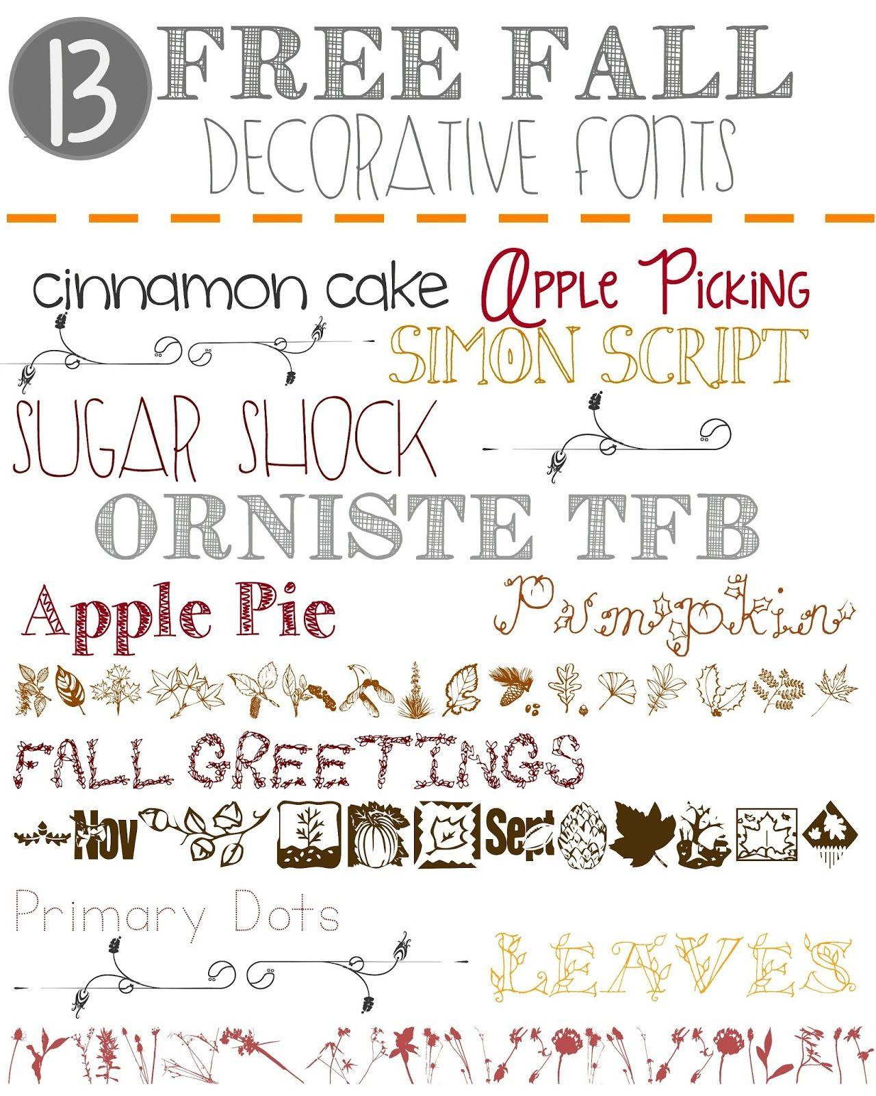 13 free fall decorative fonts - Decorative Fonts