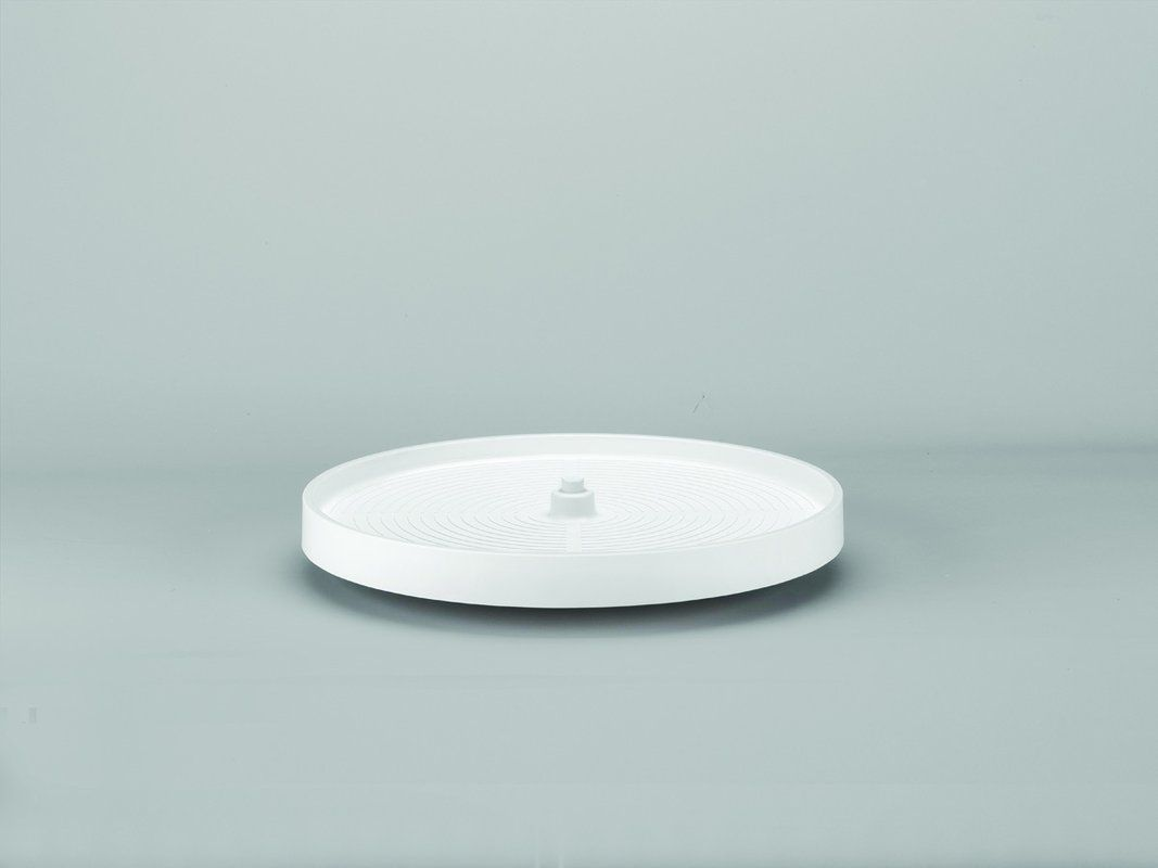 revashelf lazy daisy 24 inch diameter polymer full circle botto white lazy susans full circle full