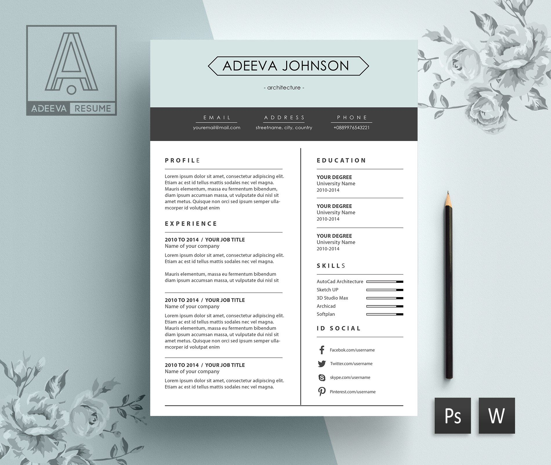 Clean resume template johnson in 2020 clean resume