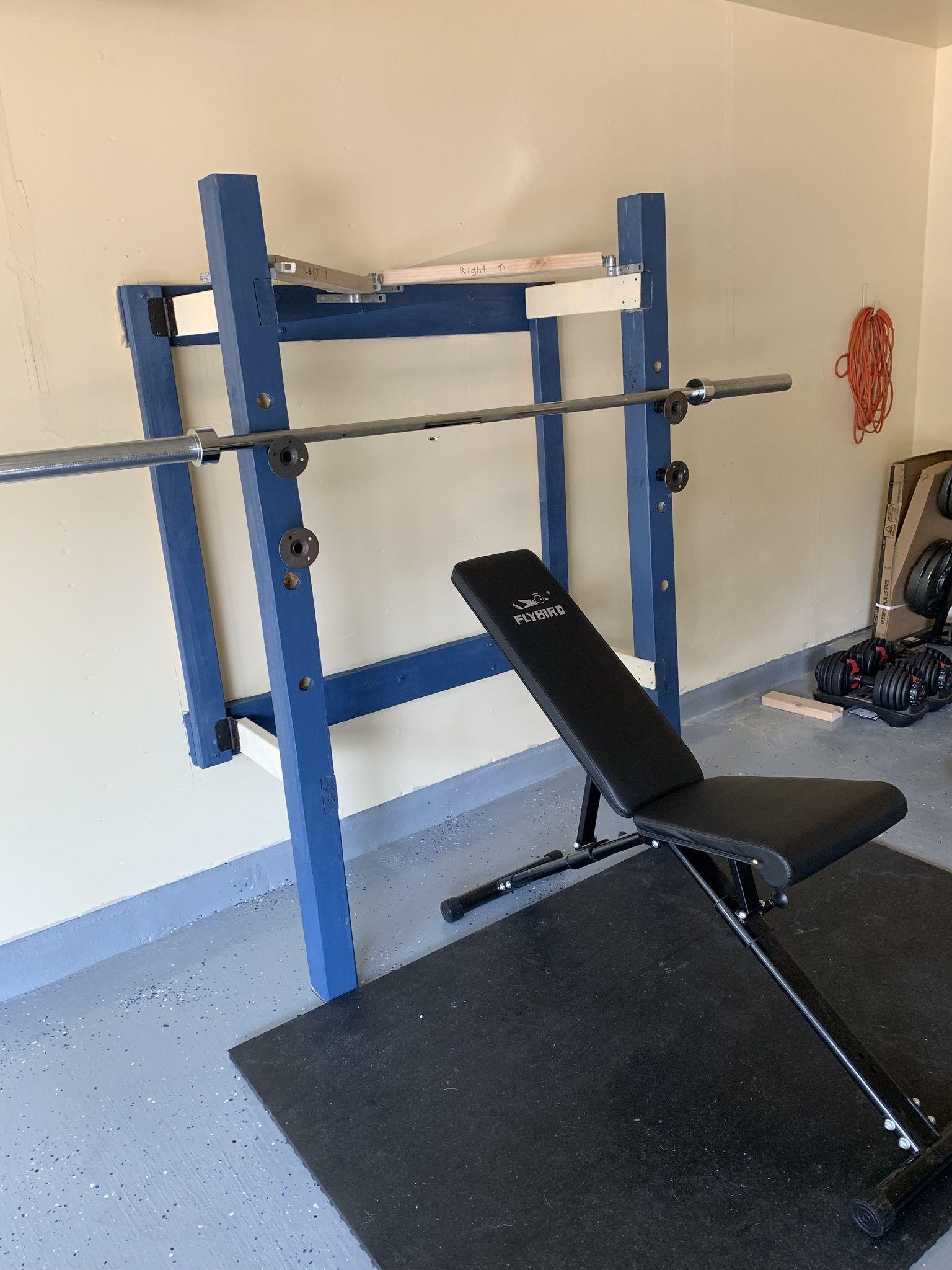 Diy folding squat rack imgur in 2020 squat rack diy
